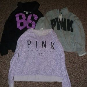 LARGE ! bundle 3 hoodies PINK leopard 86